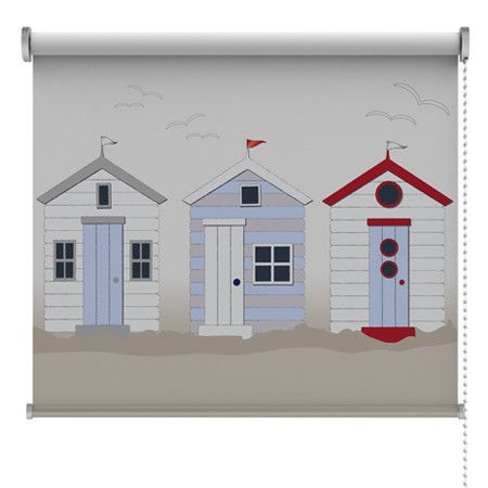 Beach Huts Roller Blind