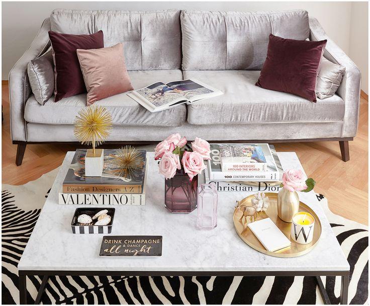 samt sofa almana 3 sitzer interiors. Black Bedroom Furniture Sets. Home Design Ideas