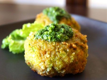 chickpea cakes with jalapeno sauce. middle eastern and mexican fusion ...
