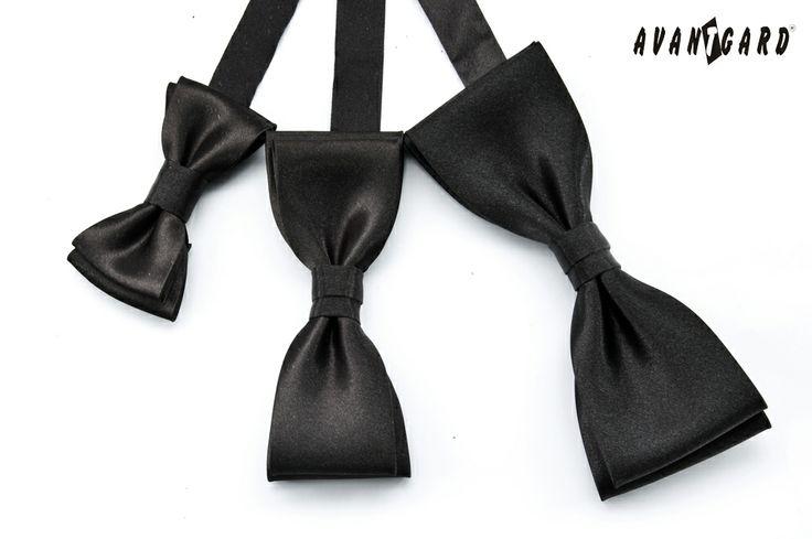 Černý motýlek AVANTGARD MINI, KLASIK a PREMIUM /// Black bow tie AVANTGARD MINI, KLASIK and PREMIUM