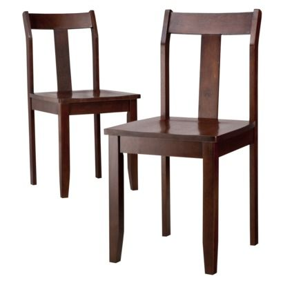 $109.99  Dining Chairs - Set of 2 - Dark Tobacco  (I think this color would work, but you can't tell with wood until you seem them next to each other): Dark Tobacco, Chestnut, Dining Chairs, Thresholdtm Dining, Target, Dining Chair Set, Kitchen, House, Dining Room Chairs