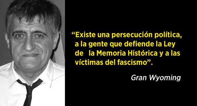 Es una persecución política, a la gente que defiende la Ley de la Memoria Histórica y a las víctimas del fascismo http://www.eldiariohoy.es/2017/04/es-una-persecucion-politica-a-la-gente-que-defiende-la-ley-de-la-memoria-historica-y-a-las-victimas-del-fascismo.html?utm_source=_ob_share&utm_medium=_ob_twitter&utm_campaign=_ob_sharebar #Franquismo #corrupcion #corruptos #granwyoming #denuncia #protesta #pp #psoe #leymordaza #politica #gente #españa #Spain