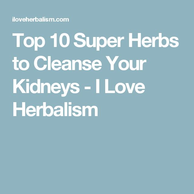 Top 10 Super Herbs to Cleanse Your Kidneys - I Love Herbalism