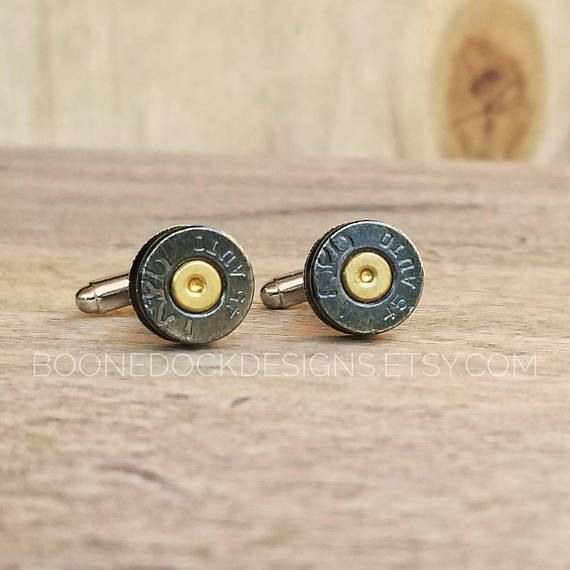 Check out this item in my Etsy shop https://www.etsy.com/listing/552263099/bullet-cufflinks-veterans-day-gift