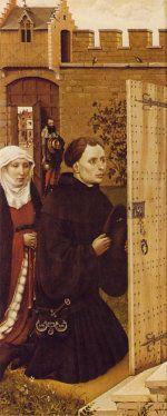 Robert Campin: Merode altarpiece - donors