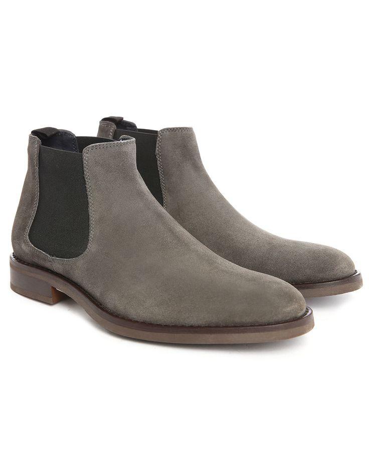 M.studio | Gray Timéo Suede Chelsea Boots for Men | Lyst