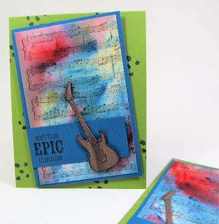Maddiebug Designs - Musical Brusho - Stampin' Up!, Epic Celebrations (SAB 2018), Sheet Music, Brusho Crystals