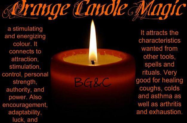 Orange Candle Magic  ✯ Visit lifespiritssocietyofmagick.com for love spells, wealth spells, healing spells, and LOA info.