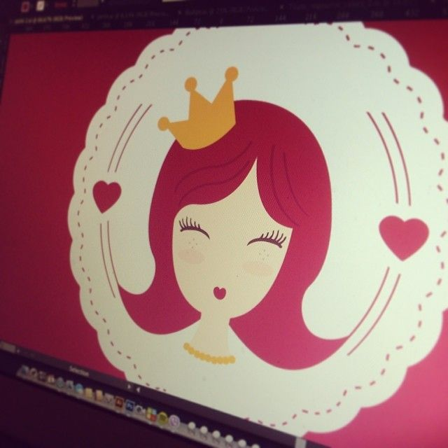 Work in progress  #wip #design #designer #designs #logo #logodesign #graphic #graphicdesign #brand #branding #brandnew #brandidentity #princess #pink #cute #sweet #onegiraphe