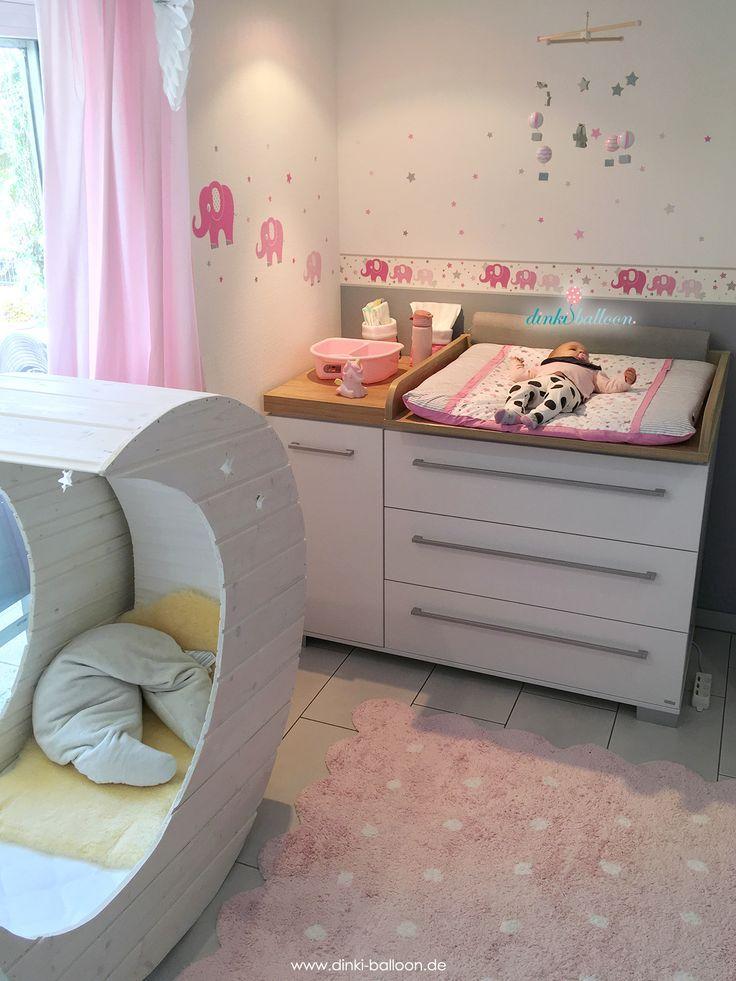 Kaufen Sie Elefanten In Pink Grau Online Bei Fantasyroom Elefanten Babyzimmer Fur Madchen In Rosa Grau Baby Zimmer Grau Babyzimmer Wandgestaltung Babyzimmer