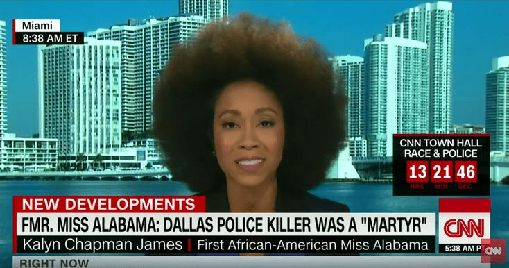 This past Sunday, the first Black Miss Alabama, Kalyn Chapman James, posted video that appears to be supporting the Dallas shooting suspect Micah Xavier Johnson. After racial backlash and controversy, the model appeared on CNN's New Day today explaining her statements in the live-stream video. In the segment, the Miami, Florida resident says she denounces …