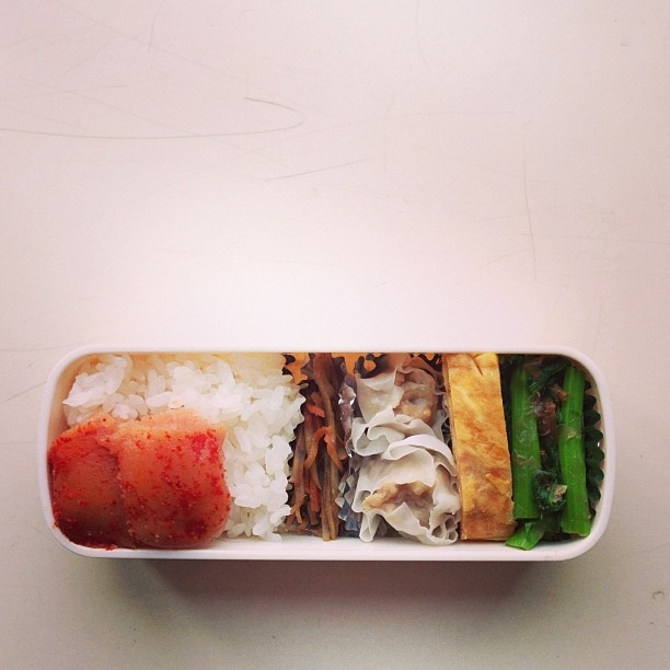 ムスコのお弁当。明太子ごはん、金平牛蒡、肉シュウマイ、卵焼き、小松菜だし醤油あえ。 - @hrk_hsmr- #webstagram