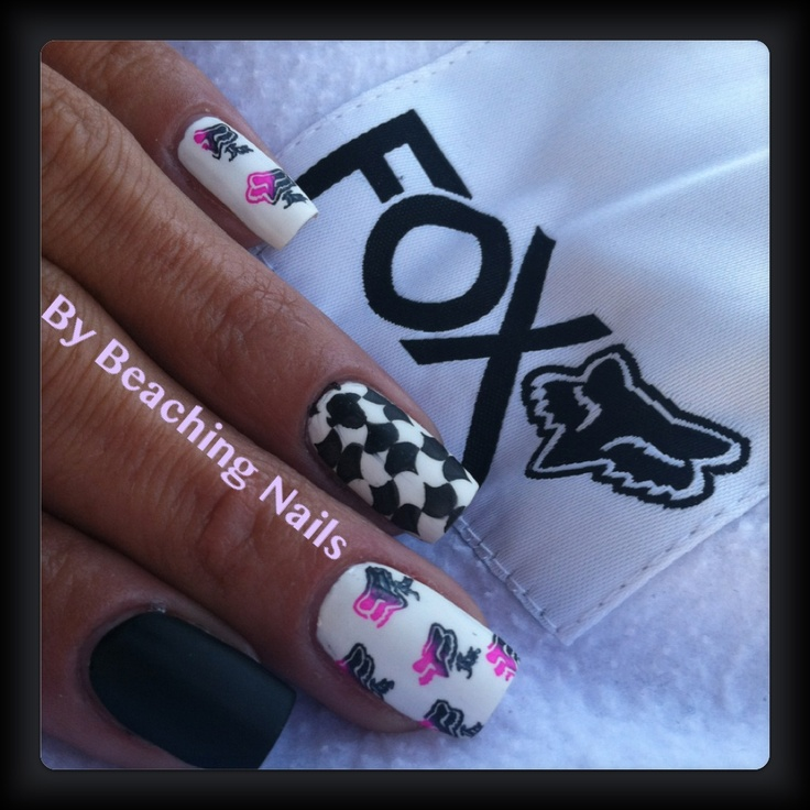 Fox Racing Nails  Nail Art