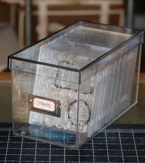 clear stamp storage... put in CD cases and then in CD storage boxes!