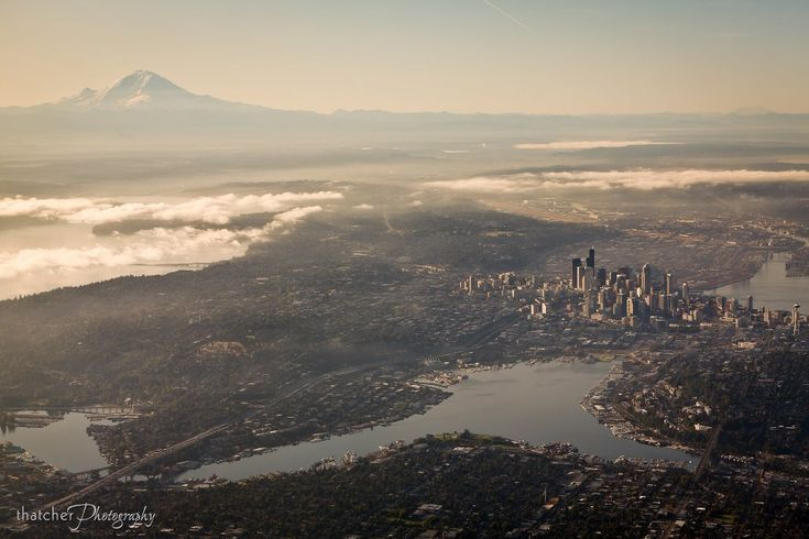 Seattle... How magnificent.: Emeralds Cities, Favorite Places, Beautiful, Washington States, Aerial Photography, Travel, Sweet Home, Birds, Seattle Washington