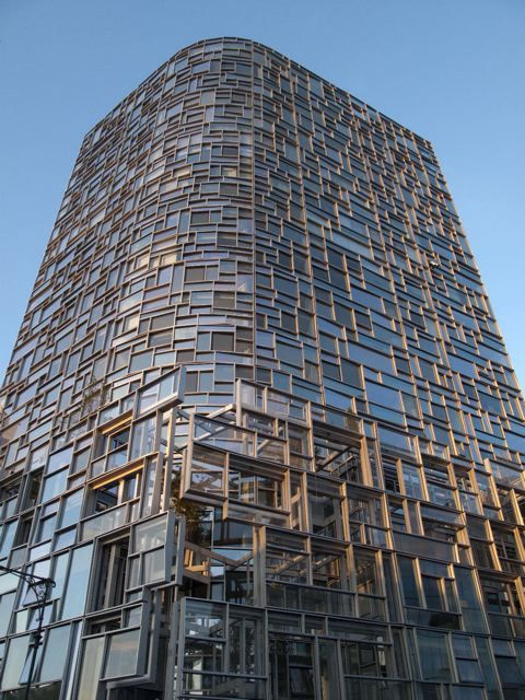 """Jean Nouvel's """"Machine for Living"""" - a 23 storey residential tower located in the Chelsea neighborhood of Manhattan along the Hudson River: Window, Jeans, New York City, Amazing Architecture, Chelsea Residences"""