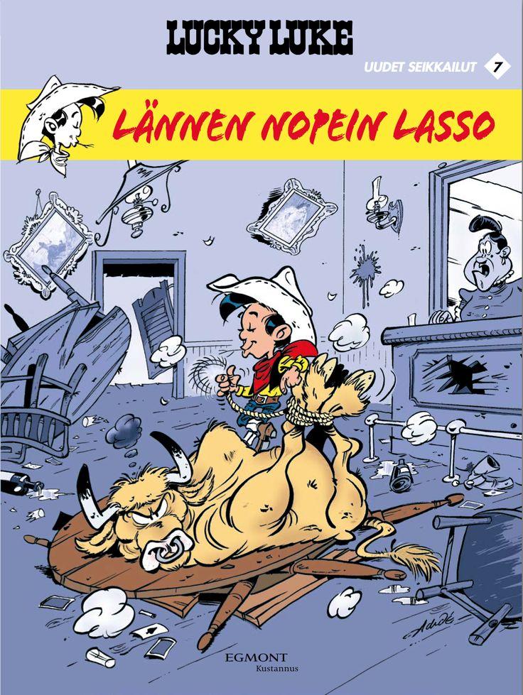 Lucky Luke: Uudet seikkailut 7 - Lännen nopein lasso. #cowboy #sarjakuva #sarjis #länkkäri