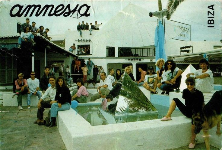 Open air Amnesia Ibiza back in 1988.
