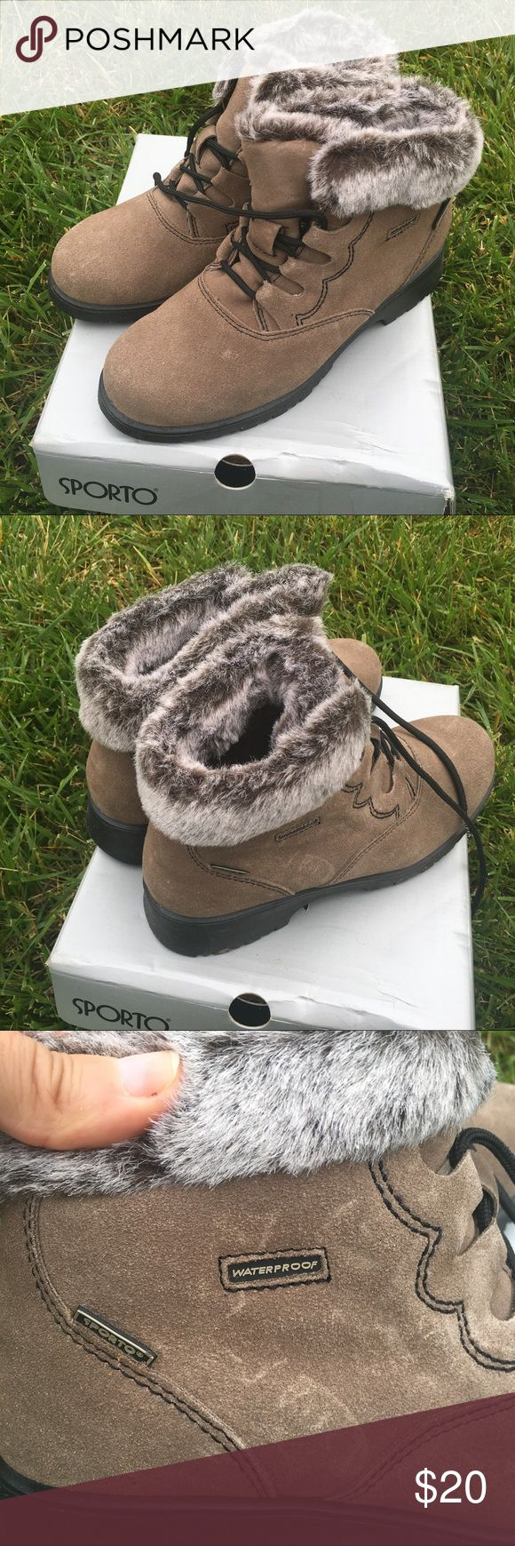 Sporto fur-lined boots Faux fur lined Waterproof boots. The were worn only a few times and are in excellent condition. They come with the box!!! Shoes Winter & Rain Boots