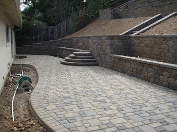 A Full Scale Fully Engineered Retaining Wall Project That Included A  Drainage System, Installation Of