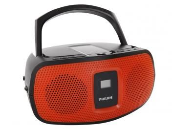 Rádio Portátil Philips AM/FM 2W CD Player - 20 Faixas Display LCD AZ391 Entrada USB
