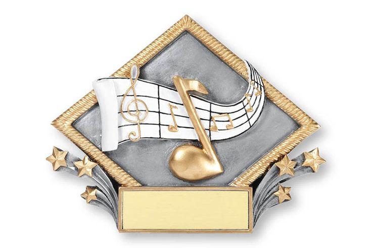 """DIAMOND MUSIC TROPHY - 6""""."""