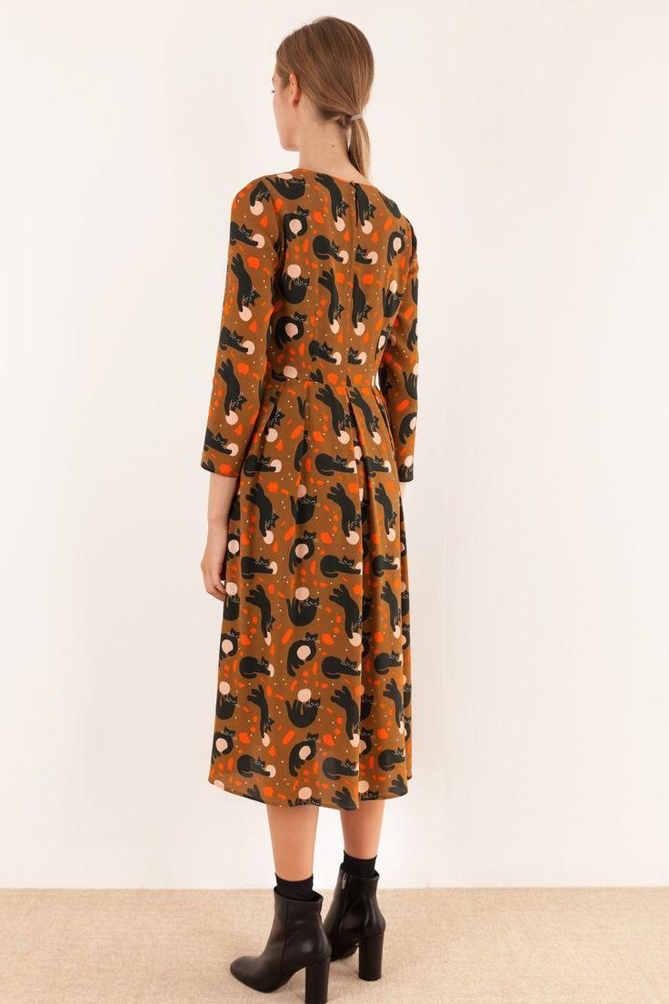 Abito lungo con stampa Anna Kovecses Abbigliamento Donna Made in Italy