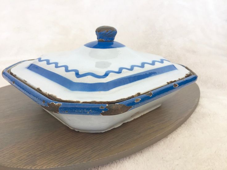 Midcentury Swedish Enamelware Baking Dish - Vintage Klafrestrom Dutch Oven in Cobalt Blue - Made in Sweden - Scandinavian Farm Kitchen by ProvinceShop on Etsy