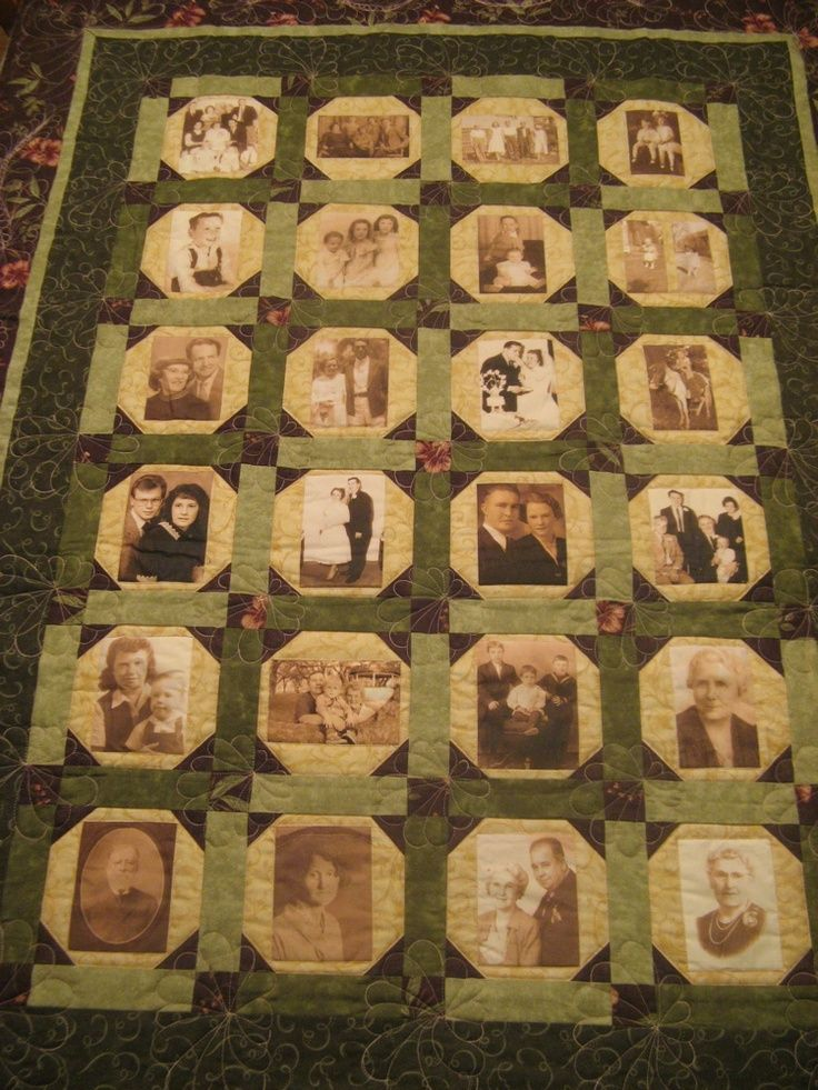 how to make a family tree quilt with pictures | making thanks to procrastination and indecision. It's a family tree ...