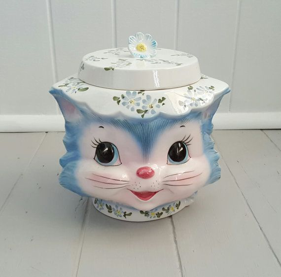 Vintage Miss Priss 1950's Lefton Kitsch Kitty by SheAdoresVintage