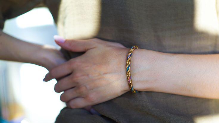 bracelet or fait à la main dans des ateliers parisiens