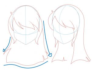 anime hairstyles for girls side view wwwpixsharkcom