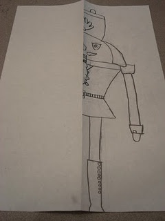 Symmetrical Nutcracker soldier drawing - includes history of nutcrackers and video on how they're made!!!! awesome!!