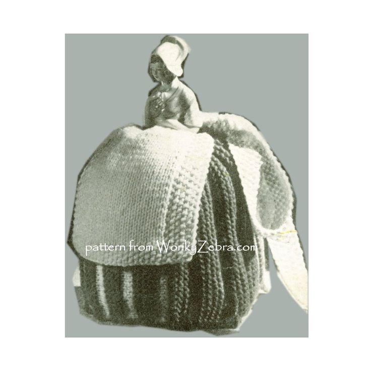 Adorable Dutch doll Vintage tea cosy pattern WZ902 .1 of 3 in PDF WZ902 from WonkyZebra