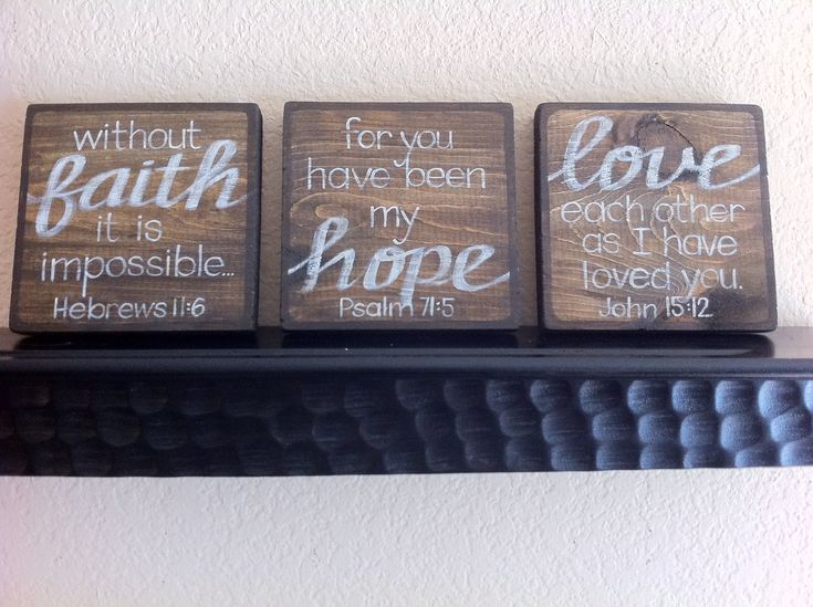 Scripture Art Home Decor Wall Faith Hope Love Set