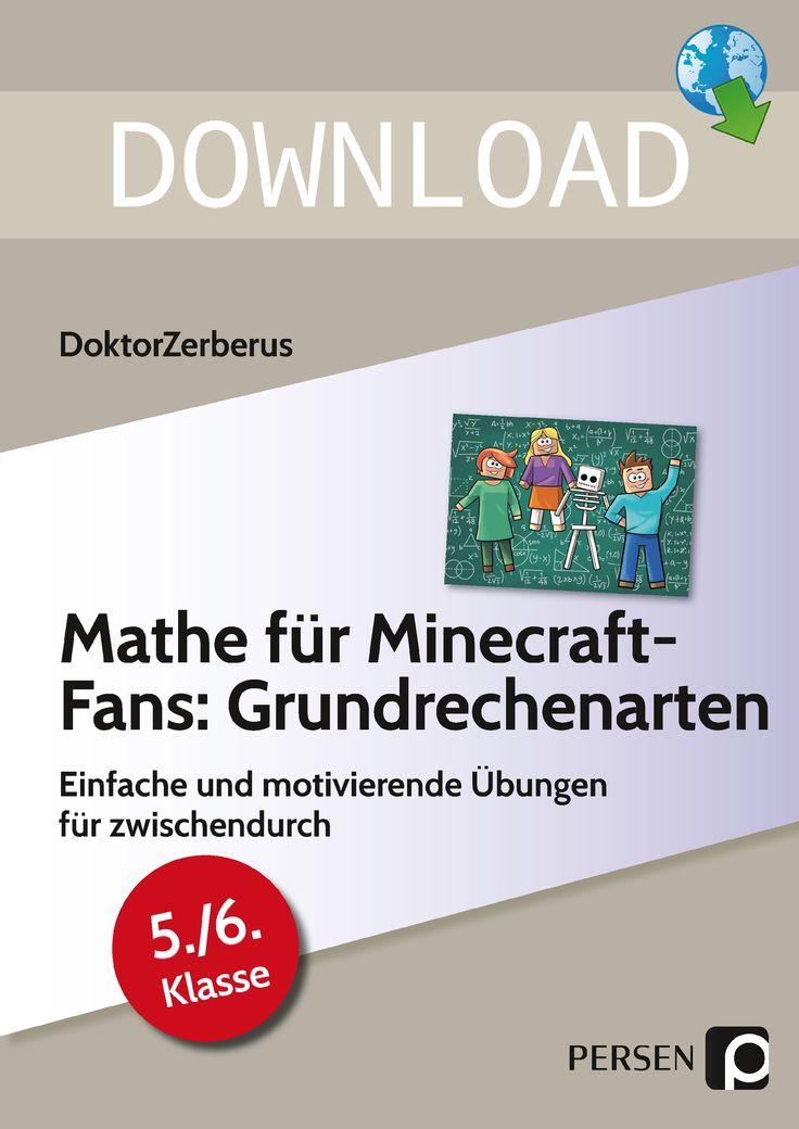 Mathe Fur Minecraft Fans Grundrechenarten Grundrechenarten