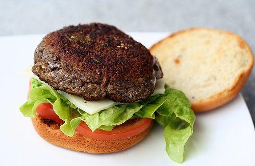 Gluten-Free Lentil Burgers. Make them smaller for cute little sliders!
