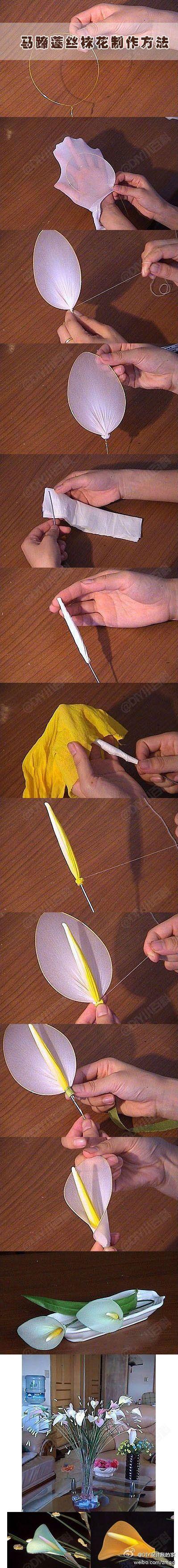 DIY Simple Calla Stocking Flower by diyforever
