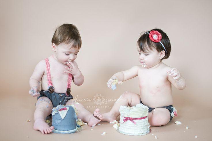 Twins Cake Smash - Stephanie Gascho Photography!