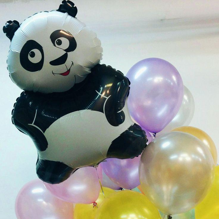 Новый букет с такой замечательной пандой🐼Riota.ru - воздушные шары, доставка шаров, оформление шарами, оформление шарами москва, оформление свадьбы, оформление дня рождения, декор, свадьба, день рождения, выписка из роддома, доставка шаров москва, романтический сюрприз, шары москва, шары с гелием, воздушные шарики, шары подпотолок, шарики москва, шарики с гелием