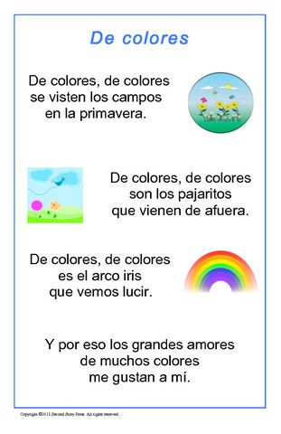 De colores - Italian, French and Spanish Language Teaching Posters | Second Story Press