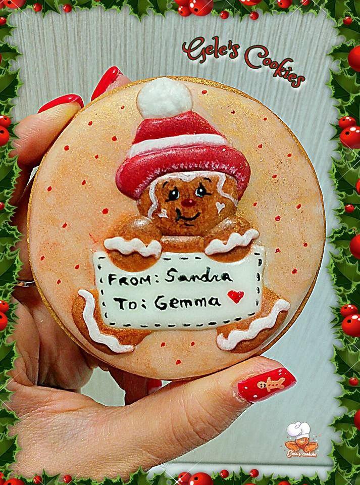 Galleta royal icing hombre de jengibre  Ginger man cookie