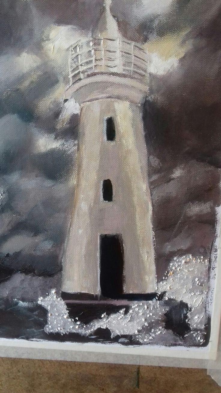 Lighthouse in oil