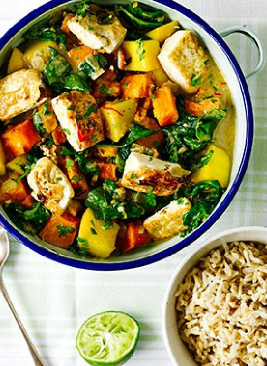 Pineapple Curry Tofu Recipe — Dishmaps