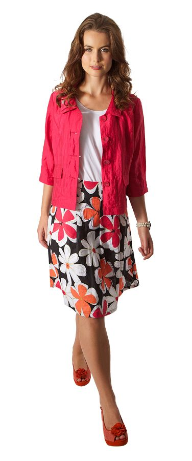 2: PRINT SKIRT.  Lifespace Pleat Skirt $189 www.sassys.co.nz