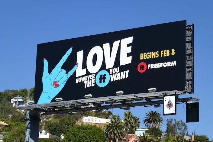 Halloween 2020 Billboards Freeform Love however the FF you want sign language billboard in