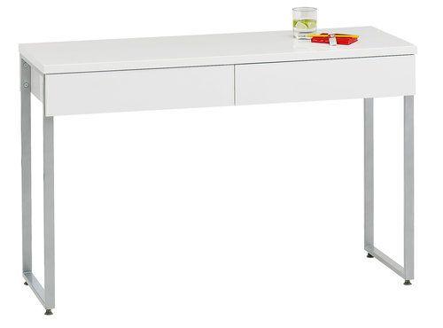 Íróasztal STEGE magasfényű fehér | JYSK