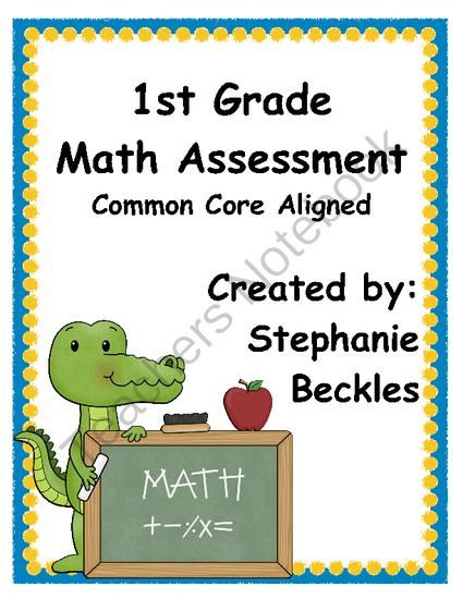 Best Math Assessments Images On   Common Core Maths