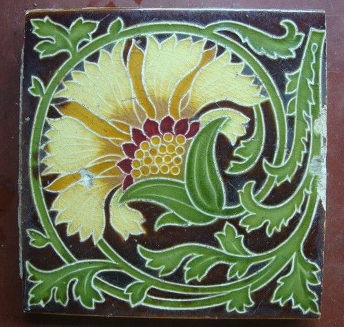 English Tile Mintons Art Nouveau |