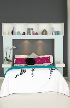 DIY headboard-I'm in love with this!!!! With an added matching white wood frame! Gorgeous